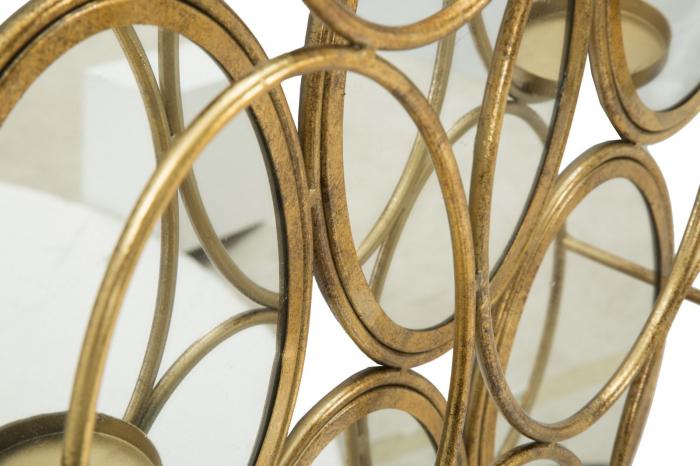 Oglinda de perete cu Suport lumanare GLAM, 54X10X118 cm, Mauro Ferretti 5