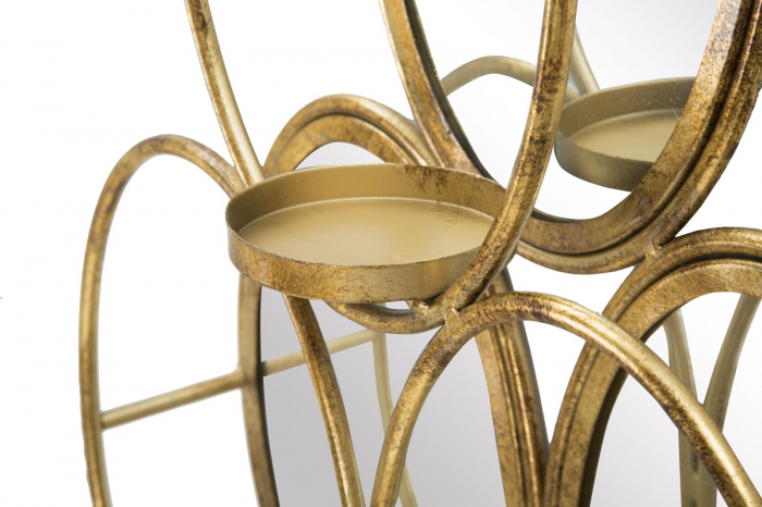 Oglinda de perete cu Suport lumanare GLAM, 54X10X118 cm, Mauro Ferretti 4