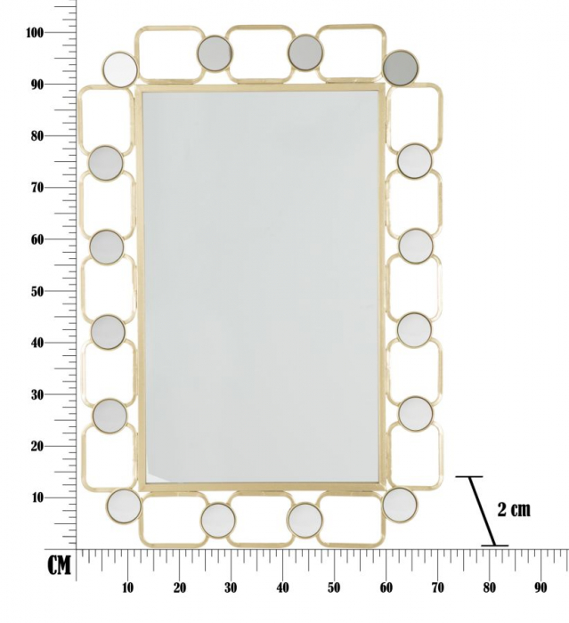 Oglinda de perete GLOSH, 71X2X102 cm, Mauro Ferretti 9