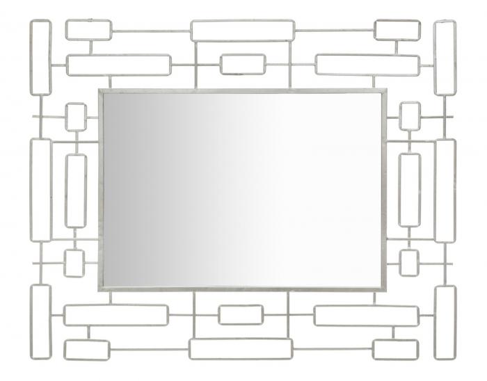 Oglinda de perete Ice, fier oglinda, argintiu, 80X2.5X100 cm 2021 lotusland.ro
