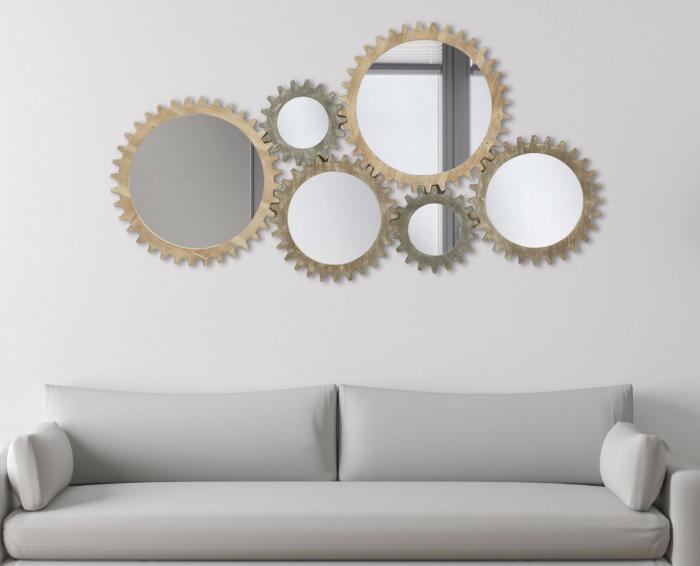 Oglinda de perete INGRANAGGIO, 137X3X73.50 CM, Mauro Ferretti 6