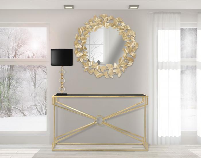 Oglinda de perete LEAF, 87X2.5 cm, Mauro Ferretti imagine 2021 lotusland.ro