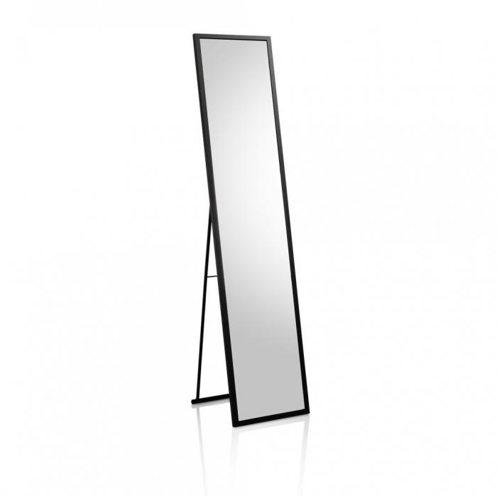 Oglinda de podea MIRA, Metal Sticla, Negru, 34x38.3x150.2 cm 2021 lotusland.ro