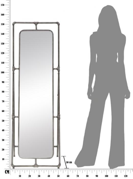 Oglinda de podea TUBE, 53.5X50X153 cm, Mauro Ferretti 8