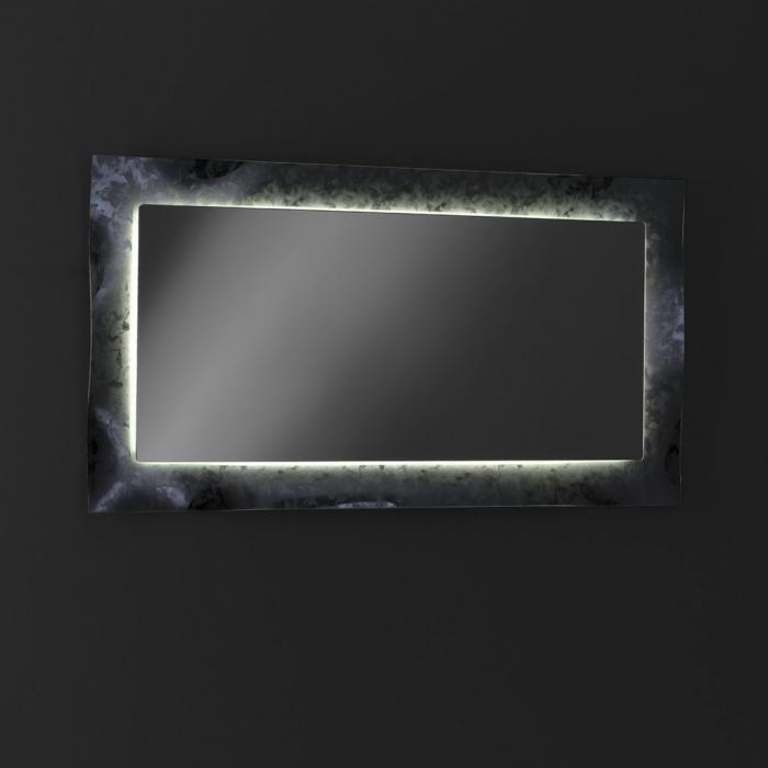 Oglinda ELE, Sticla/Abs, Gri, 65x3x120 cm 3