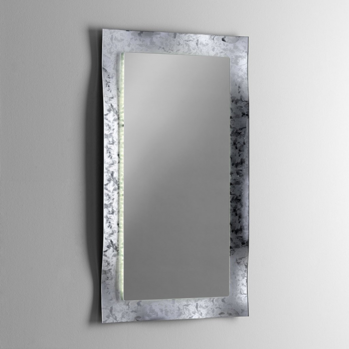 Oglinda ELE, Sticla/Abs, Gri, 65x3x120 cm 0