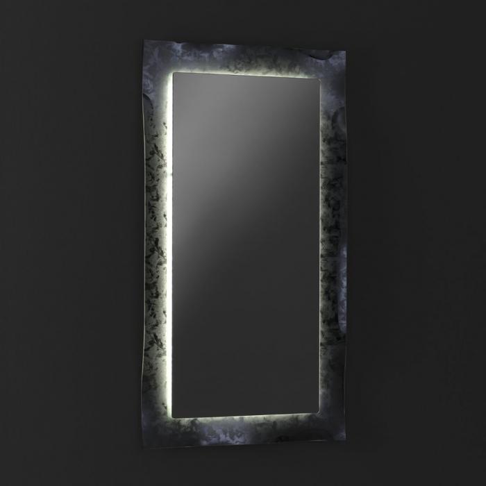 Oglinda ELE, Sticla/Abs, Gri, 65x3x120 cm 2