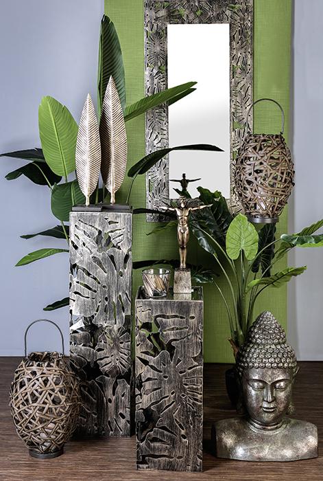 Oglinda FLORA, metal/sticla, 120x60 cm 1