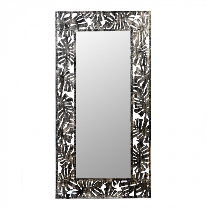 Oglinda FLORA, metal/sticla, 120x60 cm 0