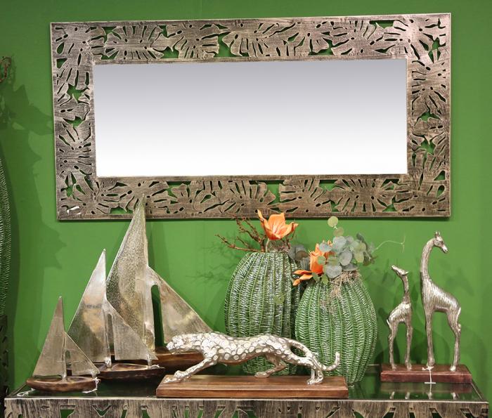 Oglinda FLORA, metal/sticla, 120x60 cm 2