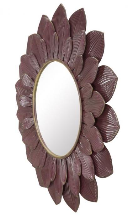 Oglinda GLAM BORDEAUX (cm) Ø 100X4,5 2
