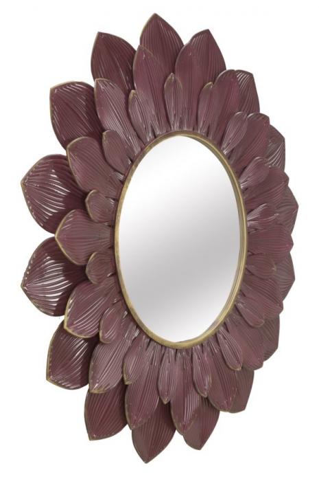Oglinda GLAM BORDEAUX (cm) Ø 100X4,5 1