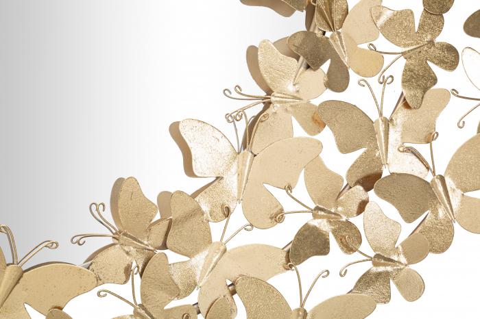 Oglinda GLAM BUTTERFLY WIND, 81.5X3.5 cm (oglinda Ø55 cm), Mauro Ferretti [4]