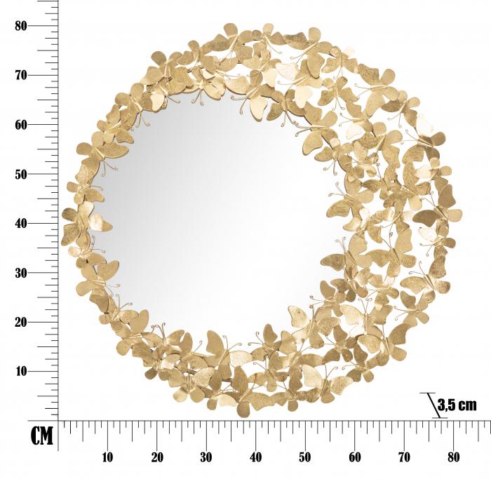 Oglinda GLAM BUTTERFLY WIND, 81.5X3.5 cm (oglinda Ø55 cm), Mauro Ferretti [5]