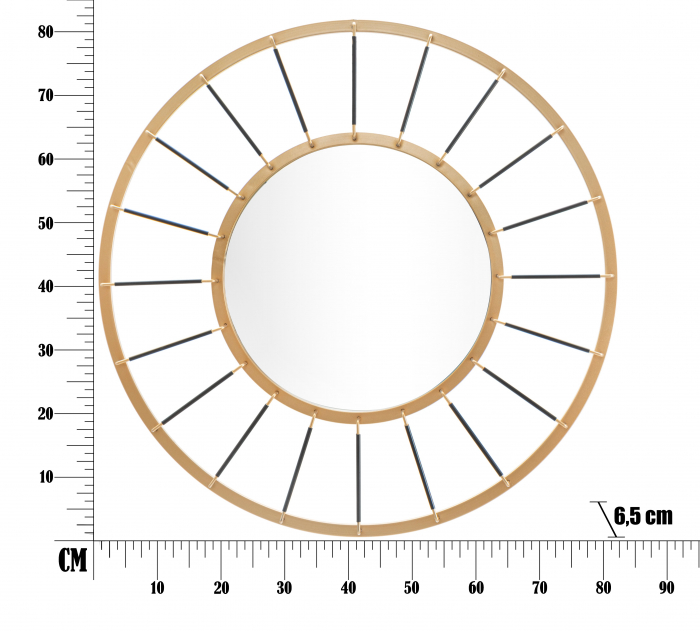 Oglinda GLAM DARK CM Ø 81X6,5 (oglinda CM Ø 41,5), Mauro Ferretti 5