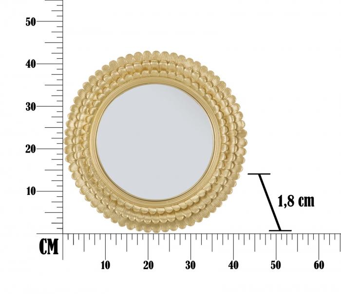 Oglinda GLAM LAMIN (cm) Ø 43X1,8 [8]