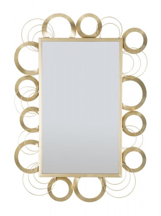 Oglinda GLOBE, auriu, 76,5X3X108 cm (interior 44X75 cm), Mauro Ferretti 2021 lotusland.ro