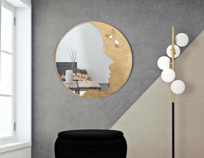 Oglinda LADY LUXY -A- O CM 80X2,5 (oglinda CM 59X70 ), Mauro Ferretti imagine 2021 lotusland.ro
