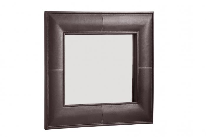 Oglinda MARETTI, piele, 61 x 61 cm lotusland.ro