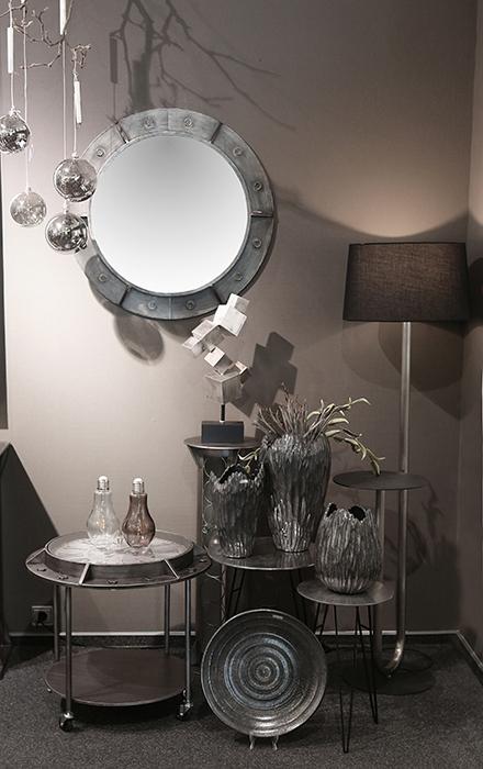 Oglinda HARBOUR, metal, 76x8 cm 3