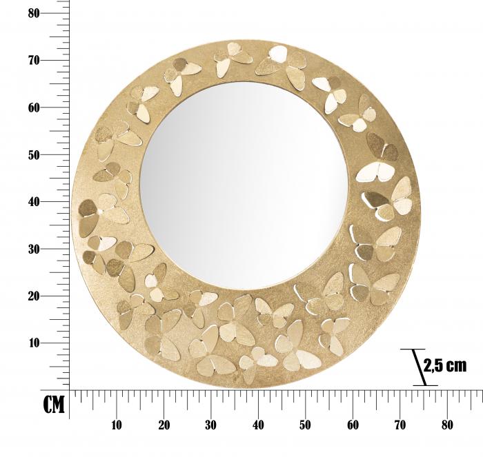 Oglinda GLAM CARVING BUTTERFLY Ø CM 75X2,5 (oglinda CM Ø 44,5), Mauro Ferretti [5]