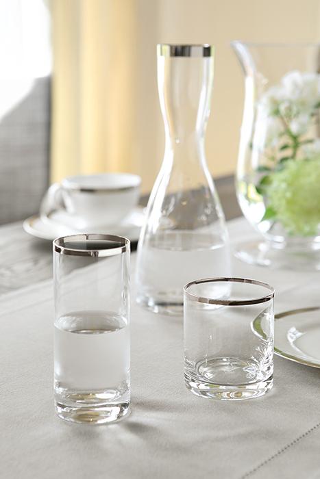 Pahar pentru apa PLATINUM, sticla,9x8 cm 2