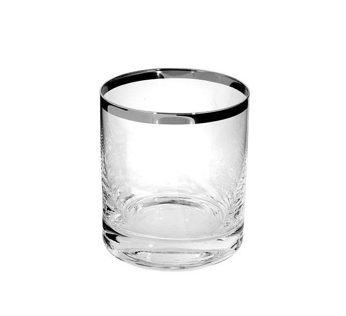 Pahar pentru apa PLATINUM, sticla,9x8 cm 0