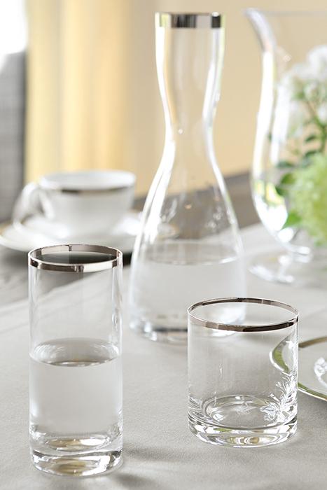 Pahar pentru apa PLATINUM, sticla,9x8 cm 1