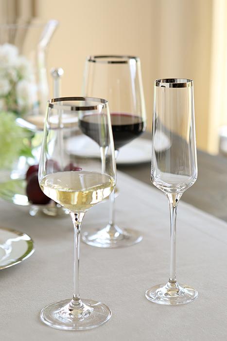 Pahar pentru sampanie PLATINUM, sticla, 26x6 cm 1