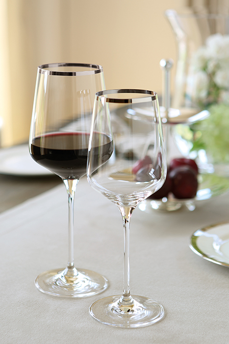 Pahar pentru vin PLATINUM, sticla, 25x9 cm 1