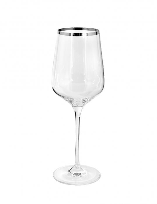 Pahar pentru vin PLATINUM, sticla, 25x9 cm 0