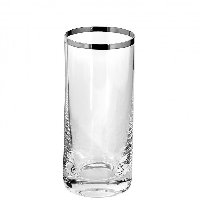 Pahar PLATINUM, sticla, 14.5x6.5 cm 0