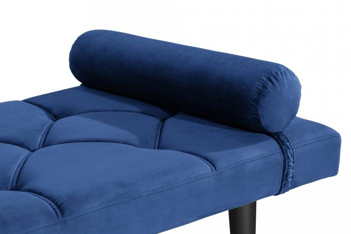 Pat de zi Diana, Albastru, 185x40x75 cm 3