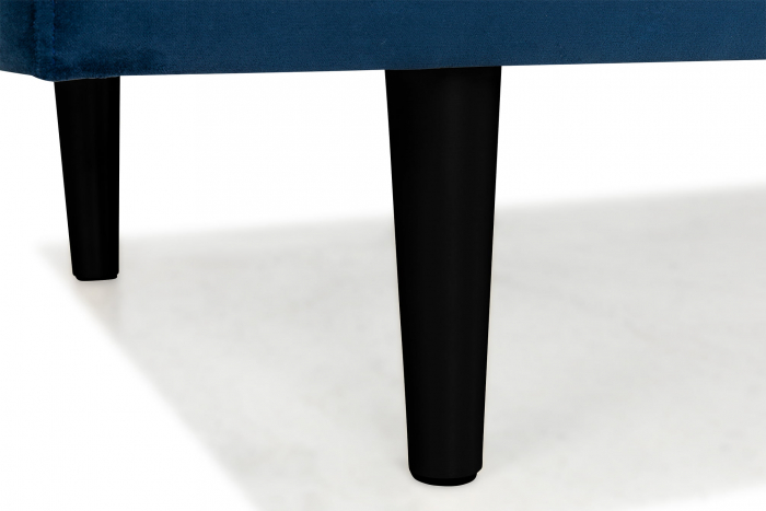 Pat de zi Diana, Albastru petrol, 185x40x75 cm 3