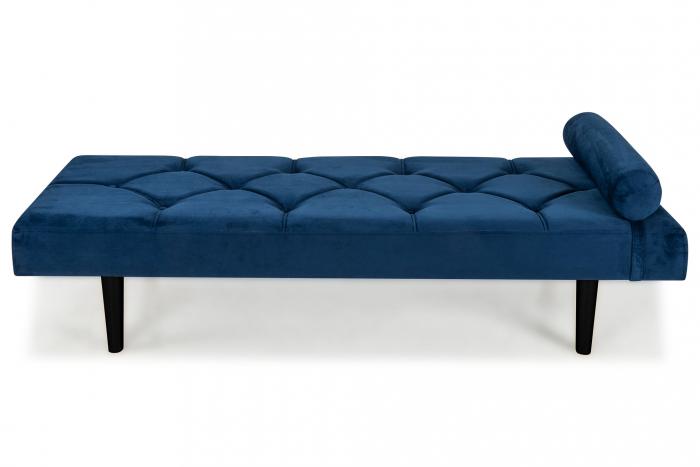 Pat de zi Diana, Albastru petrol, 185x40x75 cm 1