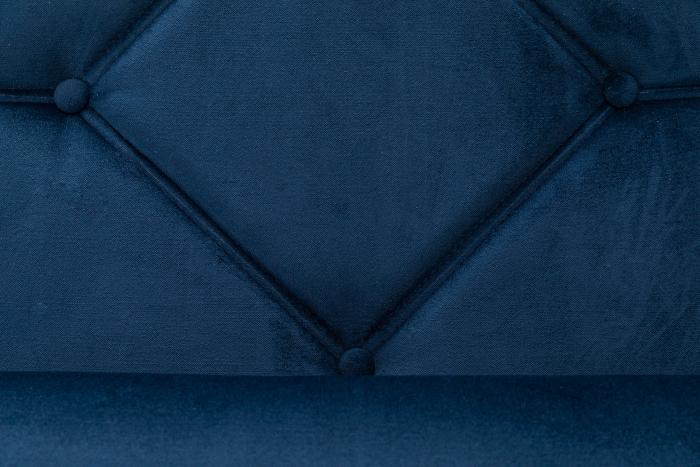 Pat de zi Diana, Albastru petrol, 185x40x75 cm 5
