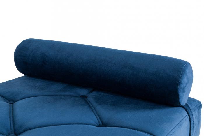 Pat de zi Diana, Albastru petrol, 185x40x75 cm 4