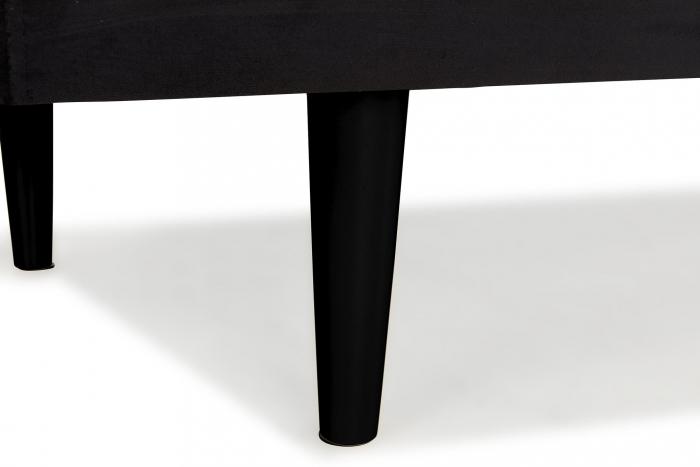 Pat de zi Diana, Negru, 185x40x75 cm 3