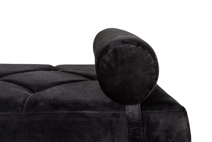 Pat de zi Diana, Negru, 185x40x75 cm 6