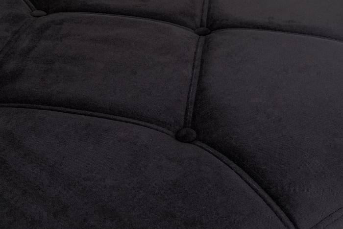 Pat de zi Diana, Negru, 185x40x75 cm 5
