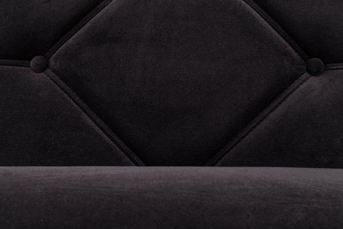 Pat de zi Diana, Negru, 185x40x75 cm 4
