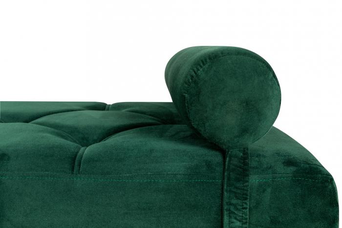 Pat de zi Diana, Verde inchis, 185x40x75 cm 3