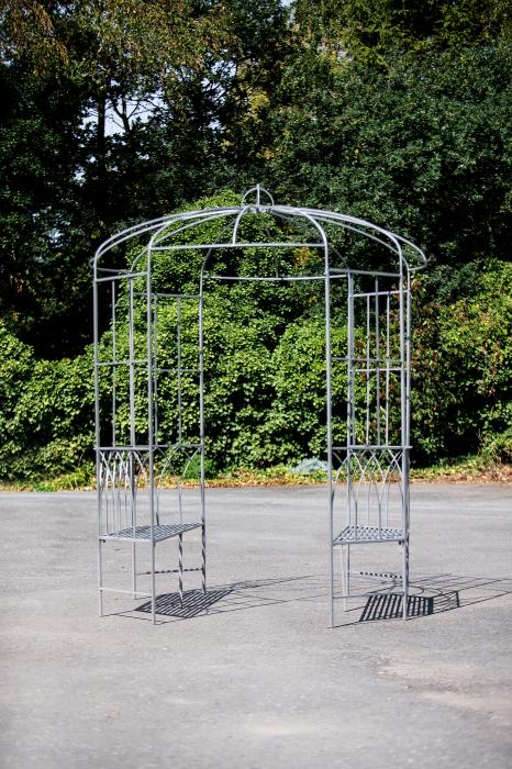 Pergola cu bancute, metal, 106x210x46 cm 0