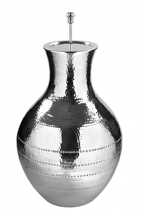 Picior lampa de podea Zagora, Aluminiu nichelat, Argintiu, 65x65x80 cm imagine 2021 lotusland.ro