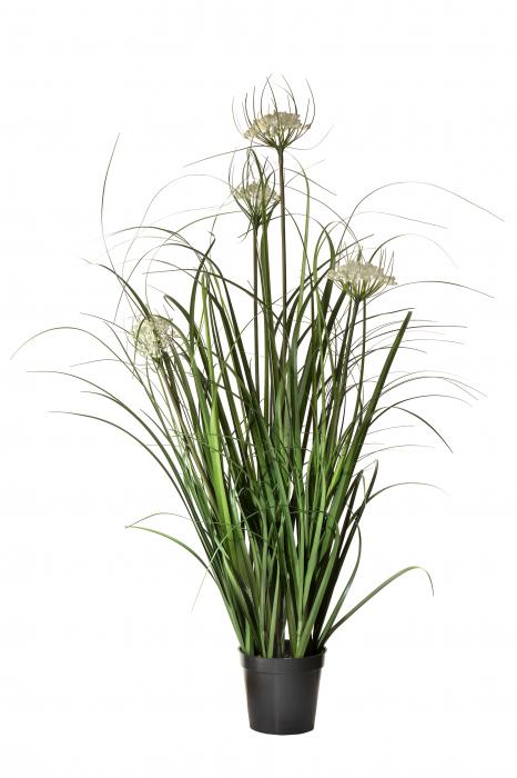 Planta artificiala la ghiveci Queen Anne's Lace, verde, 90 cm 0