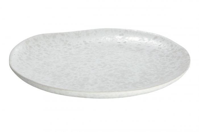 Platou decorativ Branco, ceramica, alb, 3x28 cm 2021 lotusland.ro