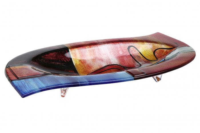 Platou NEW LIFE, sticla, 54x28x7.5 cm 0