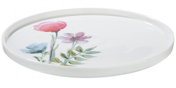Platou pentru tort Sweet Blossom, portelan, multicolor, 1.9x27 cm lotusland.ro