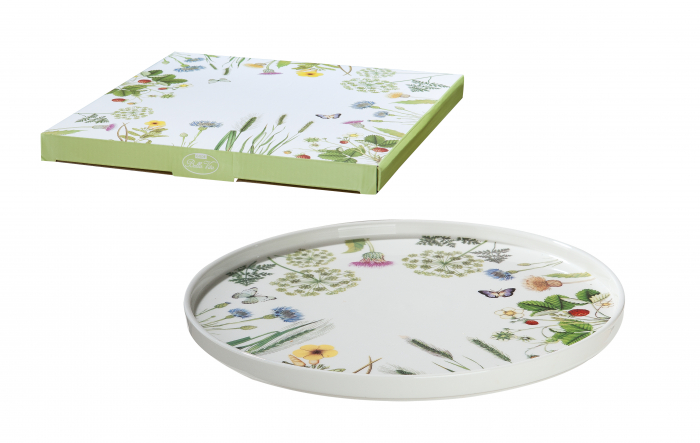 Platou pentru tort Wild Flowers, portelan, multicolor, 1.9x26 cm imagine 2021 lotusland.ro