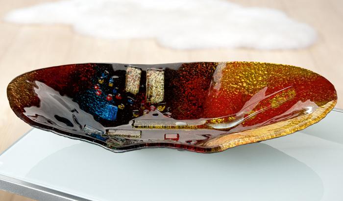 Platou SOLEIL, sticla, 49x27x9.5 cm [0]